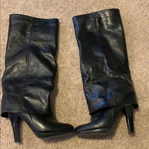 Kelly & Katie Black Knee High Boot